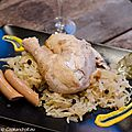 Choucroute au champagne et poulet