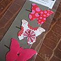 Les PINCES A CHEVEUX papillon