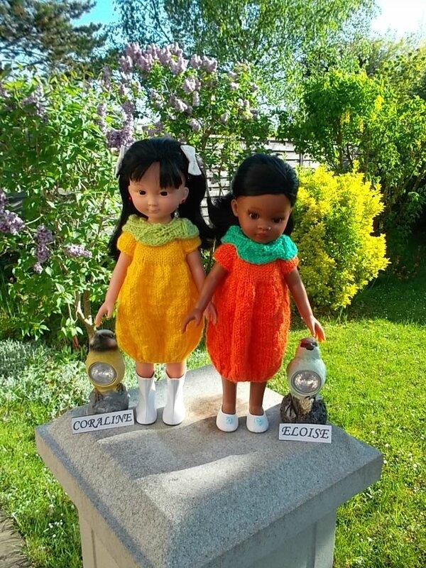 Coraline & Eloise en citron & citron ( Nathalie )