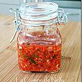 Purée de piment antillais, parfumée au gingembre et à l'ail