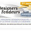Le design et la fonderie - 05 decembre - ctif et strate college