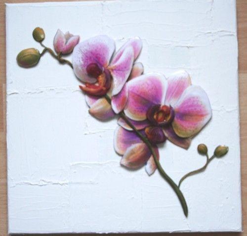 orchidée 3D sur toile
