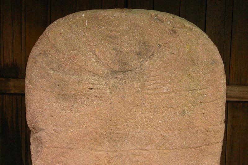 Statue-Menhir de Malvielle - détail