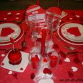Ma table de la saint-valentin