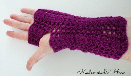 Snood_mitaines violet 3