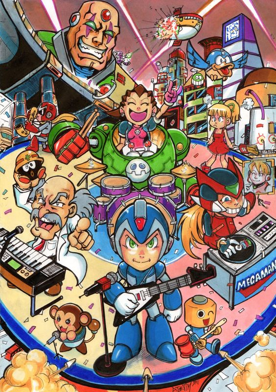 Megaman_tribute_by_Djiguito
