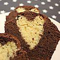 Diy cuisine saint valentin - un gâteau au chocolat avec un cœur en cœur ...