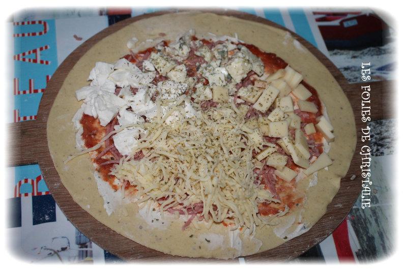 Pizza roquefort raclette 3