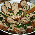 Salade gourmande aux faux gras