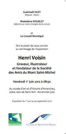 Avranches musée d'art et d'histoire exposition rétrospective Henri Voisin 2012 Guénhaël Huet