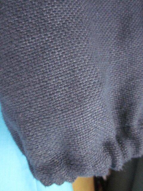 Robe BRUNE en lin turquoise - Veste BLANCHE en lin marine - Chapeau AGATHE en lin marine et turquoise (7)