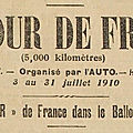 Tour de france 1910, ballon d'alsace & belfort