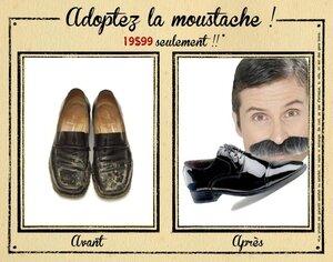 moustache chaussure