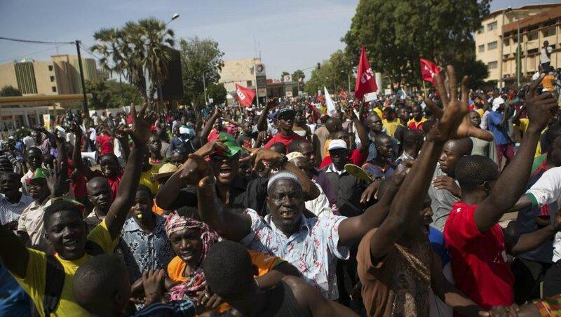 manifestants burkina faso