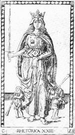 tarocchi da Mantegna série E- 23 Rhétorique ca 1465
