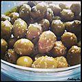 Marinade olives pour l'apéritif