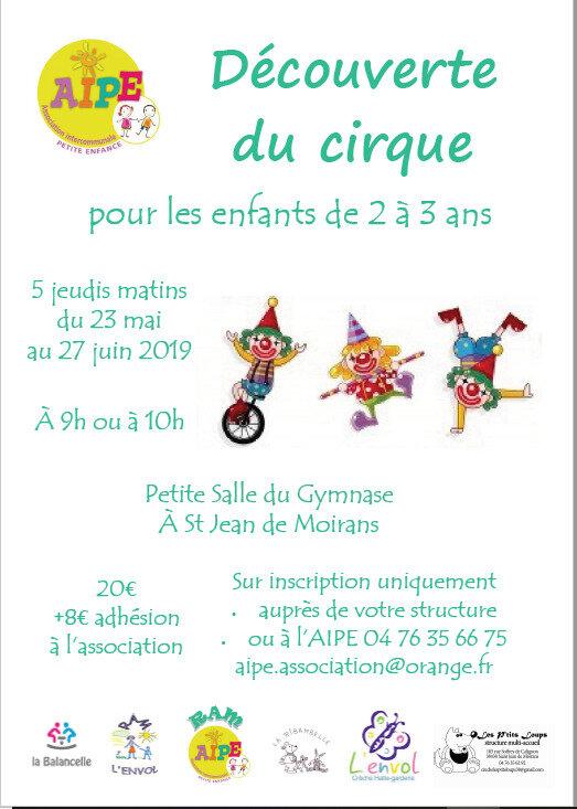 affiche ateliers cirque 2019