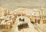 Rousseau, Paysage de neige et scène de guerre