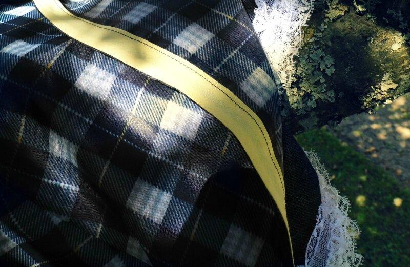 jupe parapluie écossais bleu sept 17
