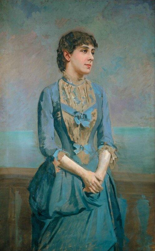 1880 Lluisa Dulce i Tressera marquise de Caastellflorite by Antonni Caba