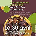 Le 30 avril : rencontre autour de la non-violence educative