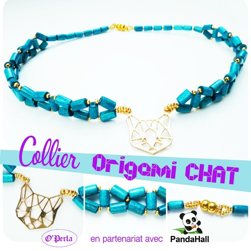 montage collier chatTURQUOISE