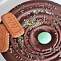Gâteau chocolat/amande/spéculoos (sans cuisson)