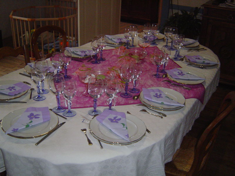 Table baptême Manon