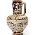 A kashan lustre pottery jug, central iran, early 13th century