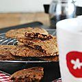 Cookies aux pépites de chocolat et cacahuètes caramélisées