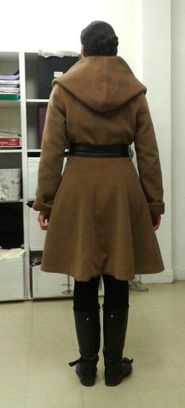 Manteau dos capuche claire