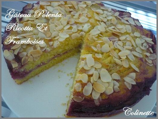 gâteau polenta ricotta et framboises 03