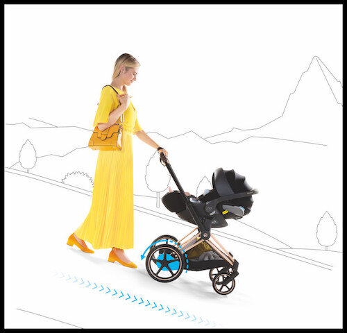 cybex e priam 3 descente