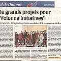 Un article dans la provence ce matin pour présenter les projets 2018 de l'association volonne initiatives.