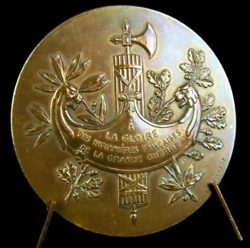 Médaille métal Willette 1916-1