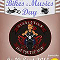 12 th bikes and musics day samedi 19 septembre 2015 salle la grange à entressen