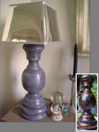 gd lampe pied bois gris patiné AV-AP