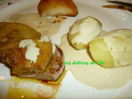 Escalope foie gras filet mignon poire caramélisée (23)