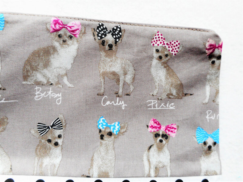 Trousse chihuahuas pois zoom