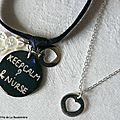 Bracelet d'allaitement et collier mini médaille coeur-001