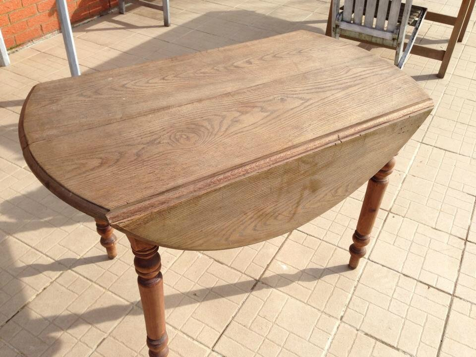 Table Ancienne Bois Ronde