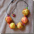 Colliers de perles en soie et sautoirs