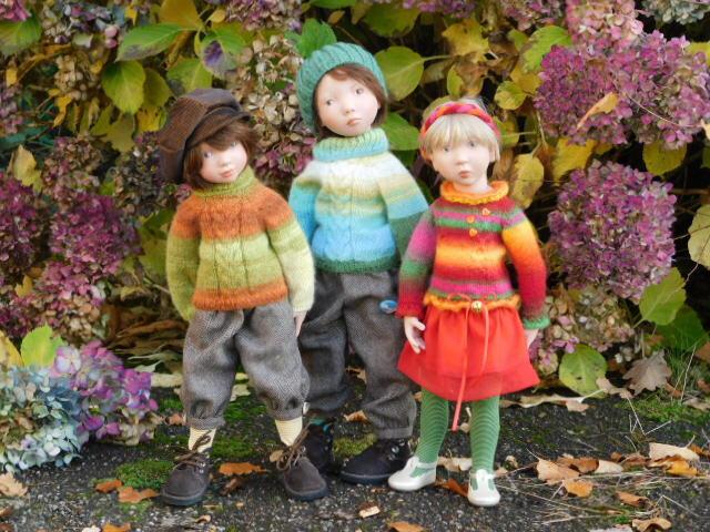 Les pulls multicolores...