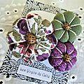 ♥ allye ♥ broche textile bohème romantique fleurs potirons - les yoyos de calie