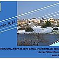 Les voeux de la municipalité de saint-gence : samedi 4 janvier 2014
