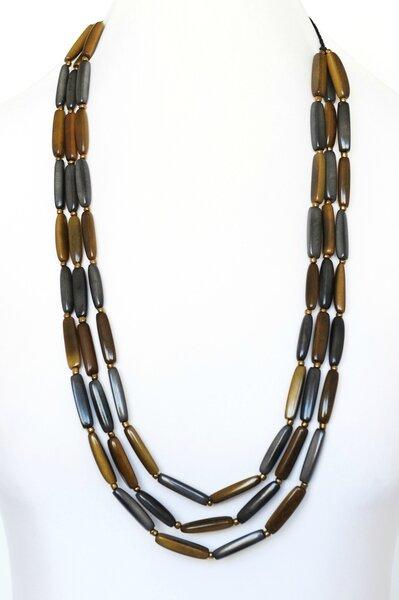 sautoir cariamanga-gris-clair-gris-fonce-bronze