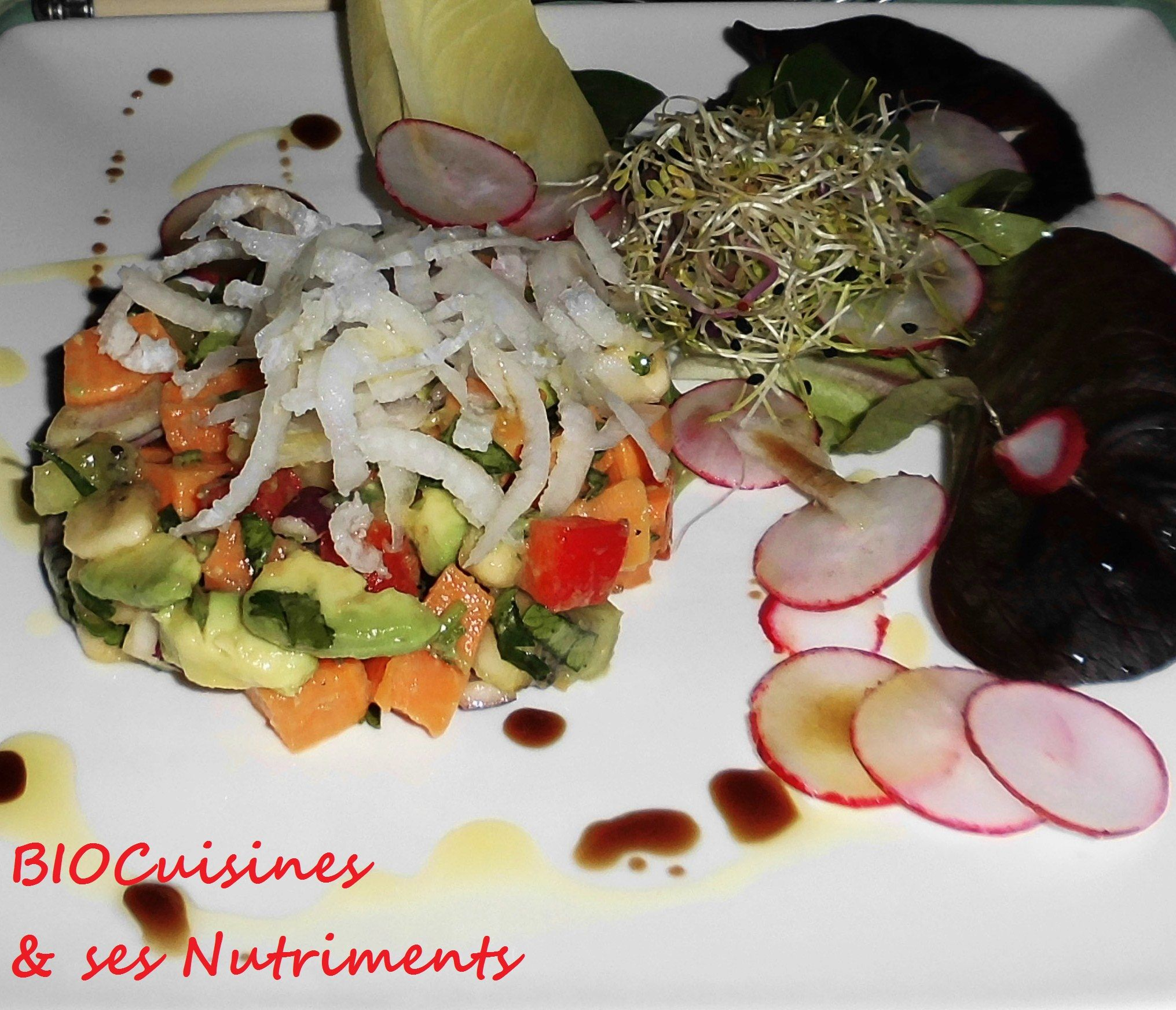 patate douce & fruits