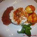 Poêlée de cabillaud et oeufs au curry