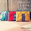 Pochette cuir original coloré CrApule FActOry collection : LOUISON