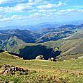 Vue sur le Pays Basque intérieur depuis Iraty...